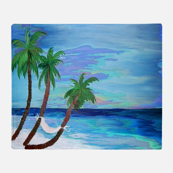 Hammock Beach Palms Throw Blanket