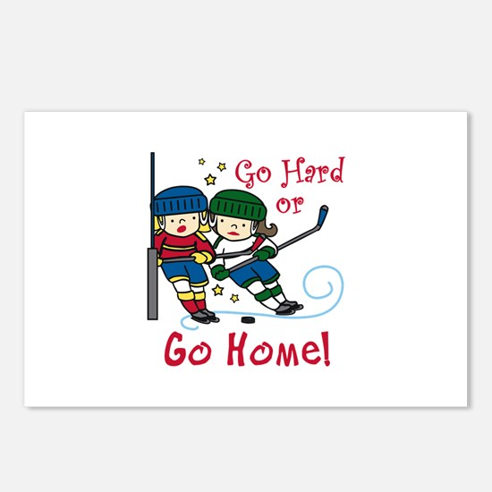 Go Hard Postcards (Package of 8)