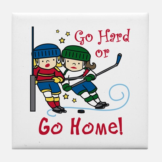 Go Hard Tile Coaster