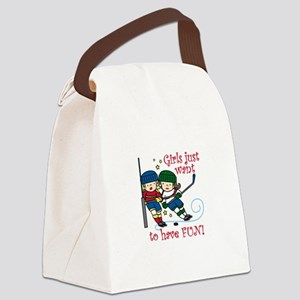 Have Fun Canvas Lunch Bag