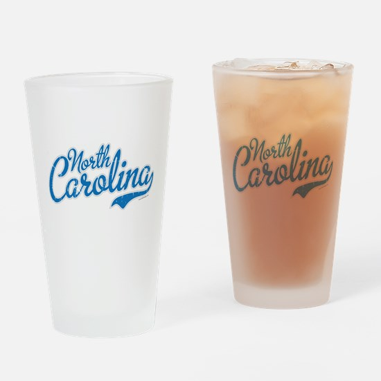 Carolina Script Font Vintage Drinking Glass