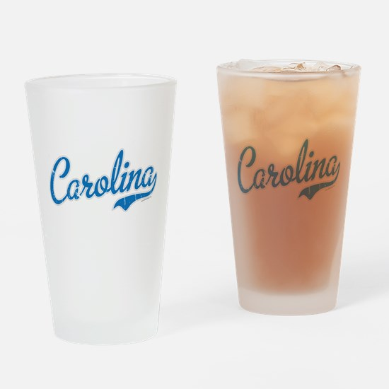 North Carolina Script Font Vintage Drinking Glass