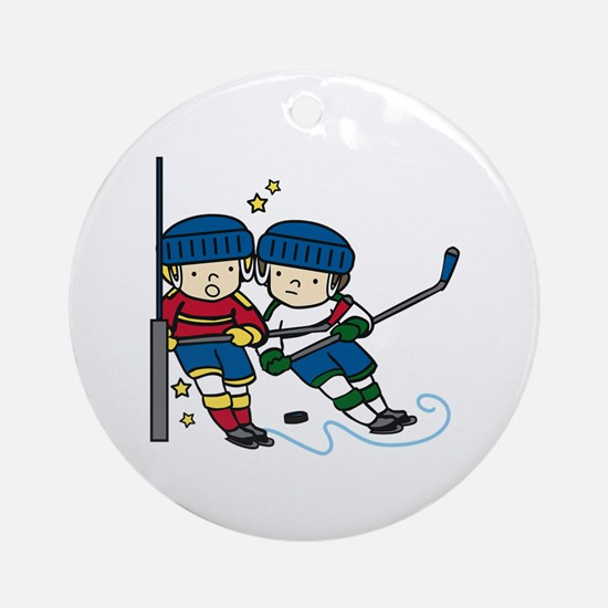 Hockey Boys Ornament (Round)