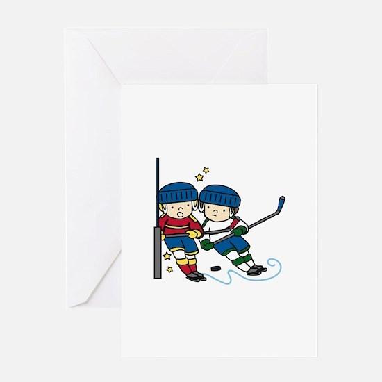 Hockey Boys Greeting Cards