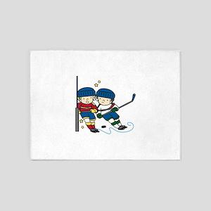 Hockey Boys 5'x7'Area Rug