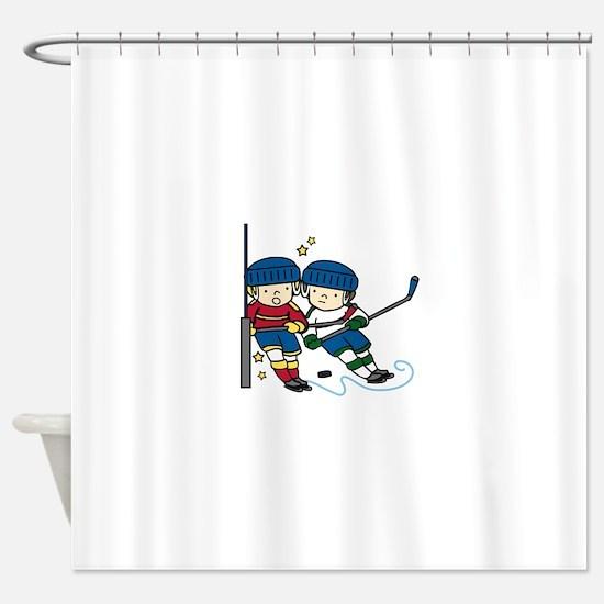 Hockey Boys Shower Curtain