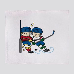 Hockey Boys Throw Blanket