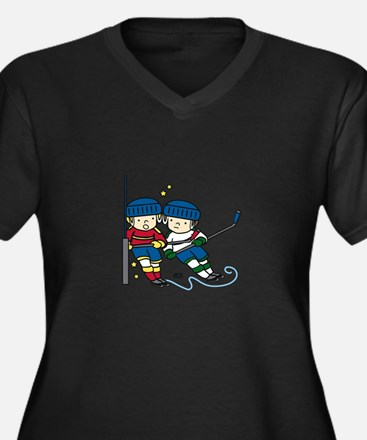 Hockey Boys Plus Size T-Shirt