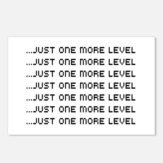 Just one more level Postcards (Package of 8)