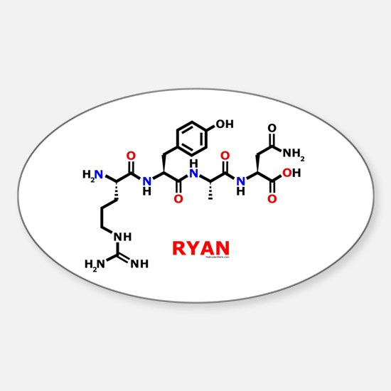 Ryan name molecule Oval Bumper Stickers