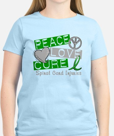 Spinal Cord Injury PeaceLoveC T-Shirt