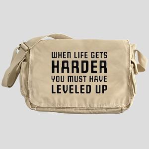 Life gets harder leveled up Messenger Bag