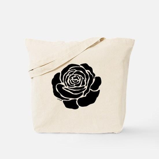 Cool Black Rose Tote Bag