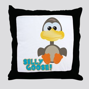 Goofkins Silly Silly Goose Throw Pillow