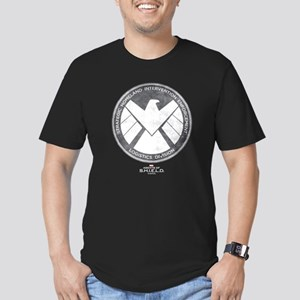 Metal Shield Men's Fitted T-Shirt (dark)