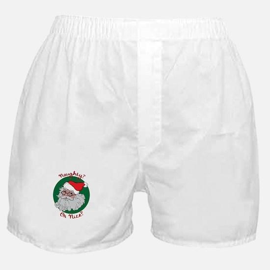 Naughty Or Nice Boxer Shorts