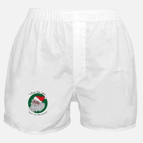 Christmas List Boxer Shorts