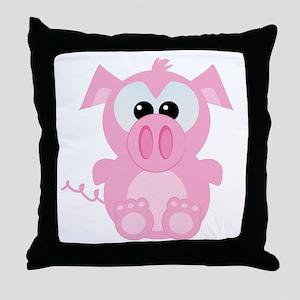 Goofkins Cute Little Piggy Throw Pillow