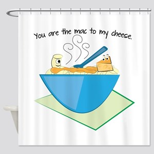 The Mac To My Cheese Shower Curtain