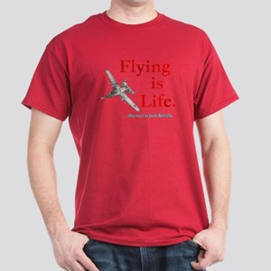 FLYING IS LIFE Dark T-Shirt
