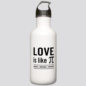 Love is like pi Water Bottle