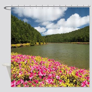 Lake in Azores Shower Curtain