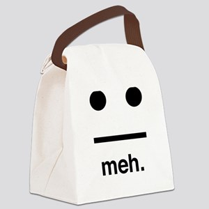 Meh face Canvas Lunch Bag