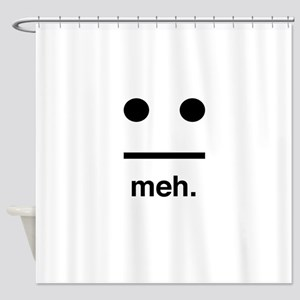Meh face Shower Curtain