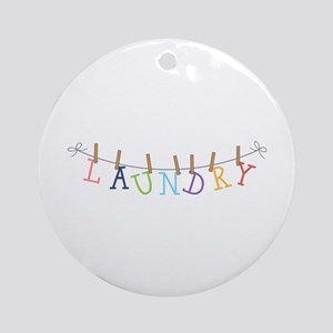 Laundry Hanging Ornament (Round)