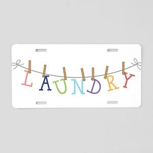 Laundry Hanging Aluminum License Plate