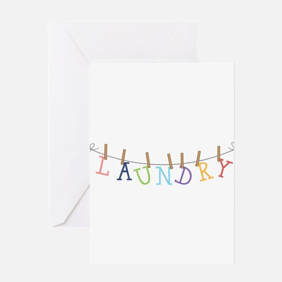 Laundry Hanging Greeting Cards