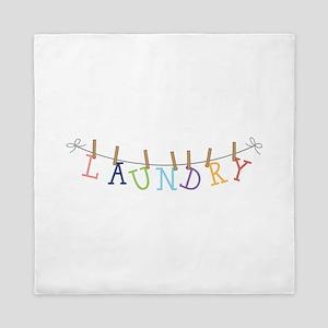 Laundry Hanging Queen Duvet