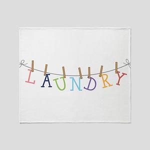 Laundry Hanging Throw Blanket