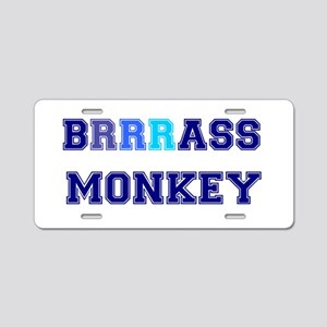 BRASS MONKEY - VERY COLD Aluminum License Plate