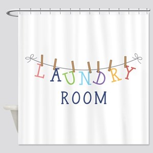 Laundry Hanging Shower Curtain