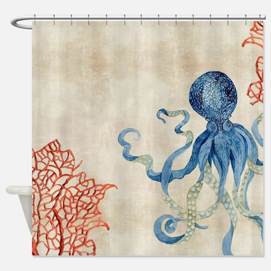 Cute Coral reef Shower Curtain