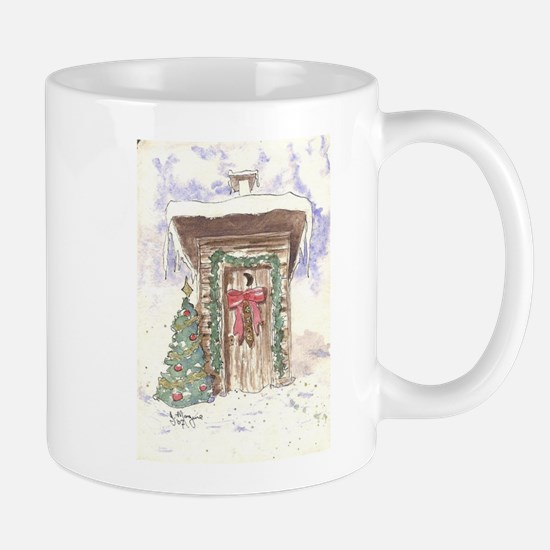 Christmas Bells Outhouse Mugs