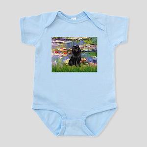 Lilies (2) & Schipperke Infant Bodysuit