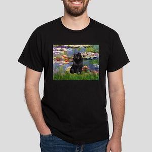 Lilies (2) & Schipperke Dark T-Shirt