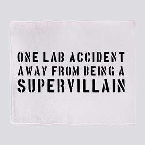 One lab accident supervillain Throw Blanket