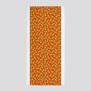Green Orange Floral Sway 413 Beach Towel