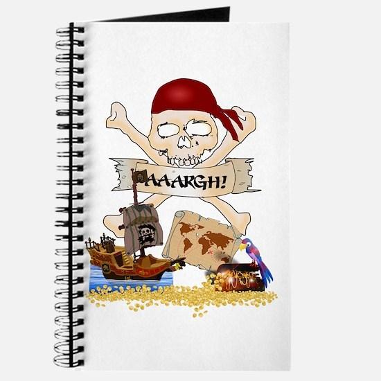 Unique Pirate treasure map Journal