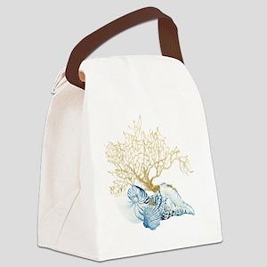 Indigo Ocean Coral Nautilus Trito Canvas Lunch Bag