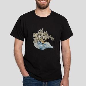 Indigo Ocean Coral Nautilus Tri T-Shirt