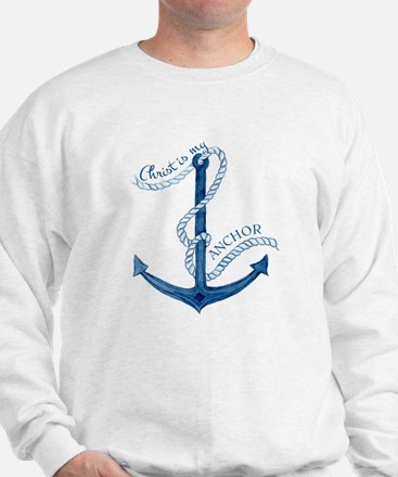 Jesus Christ is my Anchor Nautical Rope Sweater