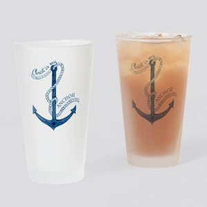 Jesus Christ is my Anchor Nautical  Drinking Glass