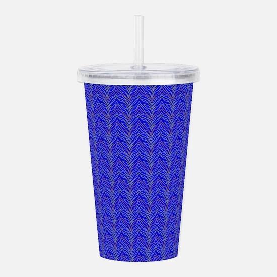 Blue Zebra Pattern Designer Acrylic Double-wall Tu