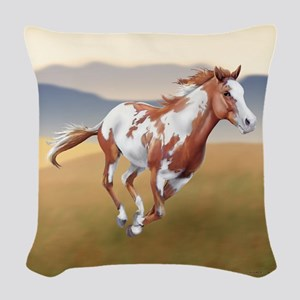 On The Run Woven Throw Pillow
