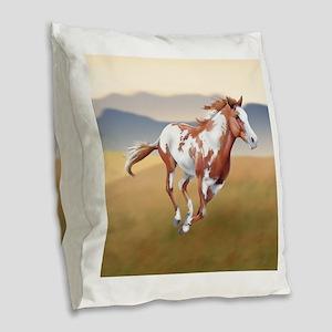 On The Run Burlap Throw Pillow