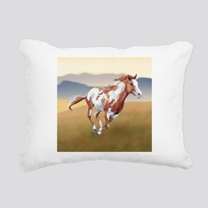 On The Run Rectangular Canvas Pillow